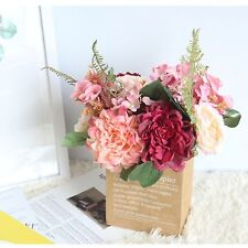 Kraft Paper Bag Nordic Style Gift Bags Artificial Dried Flowers Package Supplies