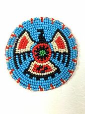TURQUOISE BLUE EAGLE BEADED NATIVE AMERICAN INSPIRED APPLIQUES ROSETTE  Q53/15