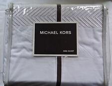 Michael Kors Carnegie HILL KING Duvet Cover Cream Herringbone New in PKG