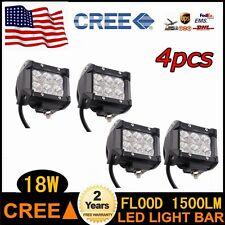 4pcs 18W Led Flood Cree Work Light SUV Driving Lamp Truck Boat 4WD 4X4 UTV PARTS