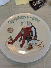 New ListingNorman Rockwell Christmas 1996 Collector Plate With Certificate