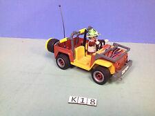 (K18) playmobil Chasseur de la savane en jeep ref 4832
