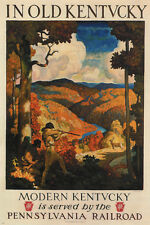 in old KENTUCKY vintage travel poster N C WYETH United States 1930 24X36 new