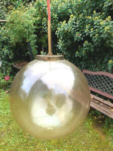 Kugellampe Glashütte Limburg 25cm Messing/Glas