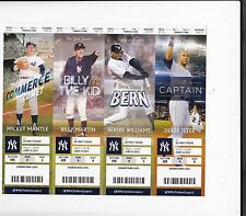 2015 NEW YORK YANKEES SEASON TICKET STUB PICK YOUR GAME JETER MANTLE RODRIGUEZ
