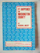 It Happened in Washington County, 1976 125 page Paperback book - Hagerstown Md