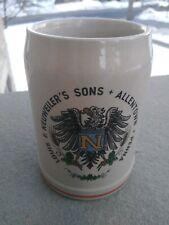 Vintage Louis F. Neuweiler's Sons Stoneware Mug - Allentown, Pa - 5 in tall