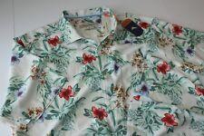 Tommy Bahama Camp Shirt Breakaway Blooms White T313766 Silk XX-Large Big  2XB