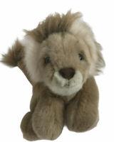 "A & A Plush Plush LION 10"" Sitting Stuffed Animal Vintage Jungle Safari"