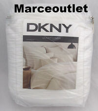 DKNY Donna Karan City Pleat FULL / QUEEN Duvet Cover & STANDARD Shams White