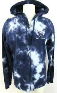 Washington Capitals Womens Medium Full Zip Tie-Dye Hooded Sweatshirt ACAP 46