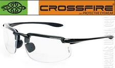 Crossfire ES4 1.25 Clear Lens Bifocal Reading Magnifier Safety Glasses Z87.1