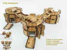 Infinity the game The Armoury Buildings x 3  28mm Terrain