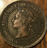 1892 CANADA LARGE CENT LARGE 1 CENT PENNY - Obverse #2 variety - Corrosion