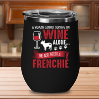Frenchie Wine Glass, French Bulldog Gifts, Frenchie Dog Accessories