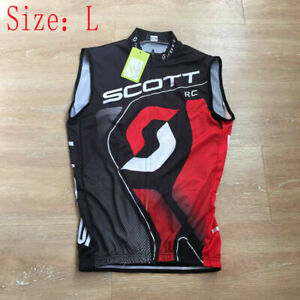 NEW Men Team Cycling Sleeveless Jersey Vest Summer Mtb Bike Top Bicycle LARGE