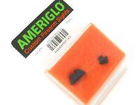 AmeriGlo GL-429 Black Flat Tall Suppressor Sight System For Most Glock Pistols