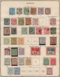 JAMAICA: 1860-1912 Examples - Ex-Old Time Collection - 2 Sides Page (38235)