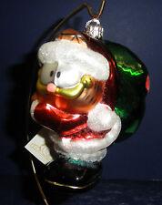 Polonaise Glass Ornament: Garfield w/ Green Sack, AP1073, New in Box