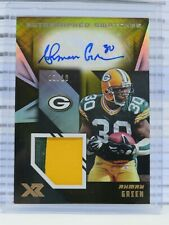 2020 Panini XR Ahman Green Gold Game Used Patch Auto Autograph #03/10 N51