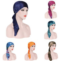Chemo Cancer Cotton Women Head Wrap Muslim Scarf Stretch  Hat Hair Loss Turban