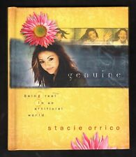 Genuine:  Being Real in an Artificial World - Stacie Orrico  Hardcover & CD  NEW
