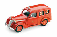 Model Car Ambulance diecast Brumm Fiat 1100 Cross Red Scale 1:43 vintage