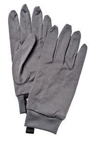 2020 Adult Hestra Merino Wool Liner Gloves Size 7 grey 34120 Ski Winter Warm