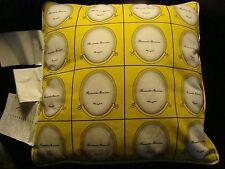"NEW IKEA Cushion Myrlilja Pillow Yellow Black  16 x 16"" Cotton Romantic Memories"