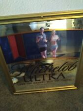 New listing Michelob Ultra Beer Lose The Carbs Not Taste Mirror 28 x 30 bar wall sign large