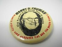 Harry S. Truman Pin Button Vintage Nixon is a Shifty Eyed Liar