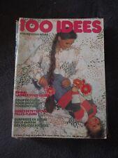 ▬► 100 IDÉES A FAIRE VOUS MÊME  N° 43 ( 1977) COUTURE TRICOT_OUVRAGES_DÉCO -CA49
