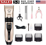 Low noise Pet Cat Dog Hair Clipper Trimmer Shaver Cordless Grooming Clipper Kits