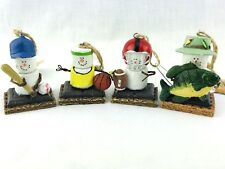 Smores Originals Christmas Tree Ornament 4 Sports Marshmallow Football Fishing