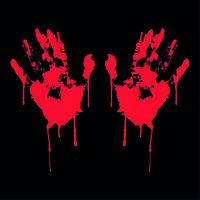Blutige Hände ✔ 20cm ✔ Tuning Aufkleber ✔ Fun Sticker ✔ Auto ✔ Bloody Hands ✔
