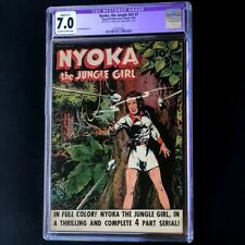 Nyoka the Jungle Girl #2 (Fawcett 1945) 💥 CGC 7.0 Restored 💥 Golden Age Comic