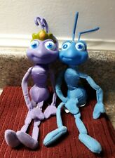 "Disney/Pixar A Bug's Life Flik and Princess Atta Plush 10"" Mattel Arcotoys.   E"