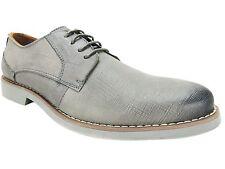 Steve Madden Men's Trill Burnished Plain Toe Oxfords Grey Leather Size 9 B