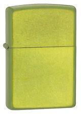 Zippo Lurid Green Translucent Powdercoate Finish WindProof Lighter 24513 NEW