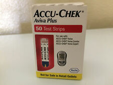 50 ACCU-CHEK Aviva Plus,Exp. 11/2017 Blood Glucose Test Strips Fast Ship