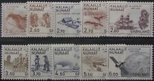 GREENLAND #148-157: MH Complete Set of 10 - Greenland History on stamps