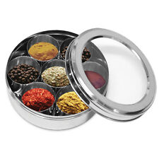 Stainless Steel Spice Storage Set Herbs Spices Condiment Storage Container Rack