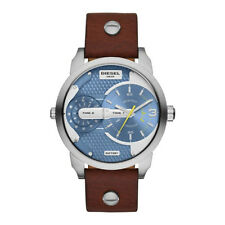 Diesel Mini Daddy Blue Brown Quartz Analog Men's Watch DZ7321