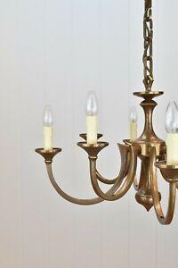 chandelier Kronleuchter 60er brutalist Messing / Bronze