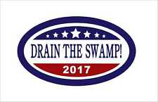 DRAIN THE SWAMP IN DC Donald Trump President Sticker Decal Vinyl Car  3M Graphic