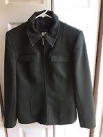 Women's Zara Concept Collection Green Full Zip Blazer Coat Jacket Size 8