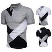 Fashion Men Slim Fit POL Shirts Short Sleeve Casual Plain T-shirt Tees Tops