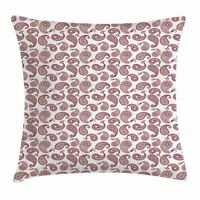 Paisley Throw Pillow Cases Cushion Covers by Ambesonne Home Decor 8 Sizes