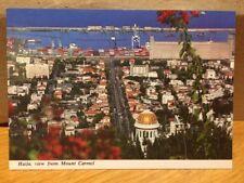 Israel Haifa View From Mount Carmel 1995 Postcard
