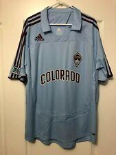 Colorado Rapids MLS 2007-2008 adidas Away Blue Soccer Jersey Men's XL NWOT